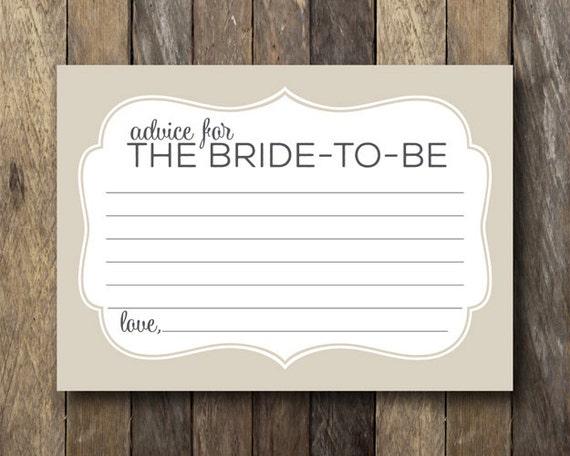 bridal shower advice card advice for the bride advice cards for