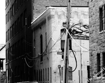 Street Photography, Wall Art, Black and White, Architecture Print 4x6 // 5x7 // 8x10 // 11x14