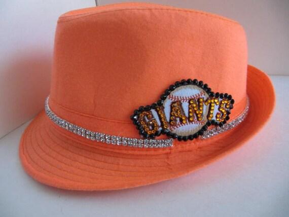 Sf Hat Giants Hat Fedora Hat Giants Hat Sf Giants Bling