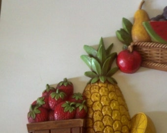 Homco wall  Fruit plaque