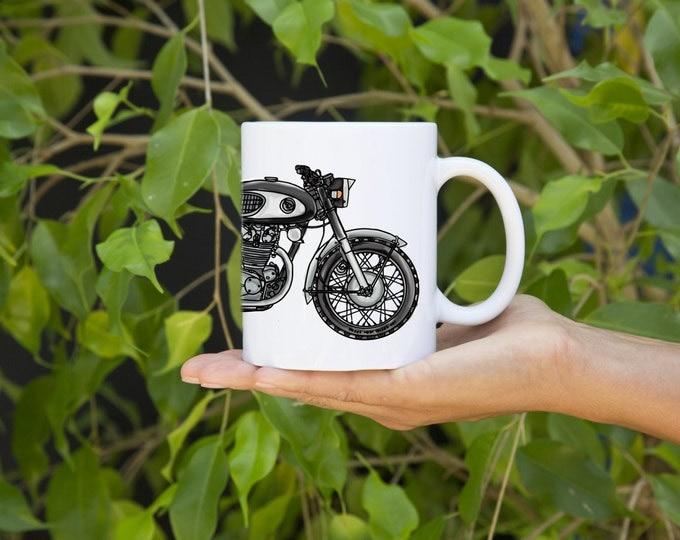 KillerBeeMoto:  U.S. Made Japanese Vintage Motorcycle Cafe Racer The Black Bomber Coffee Mug