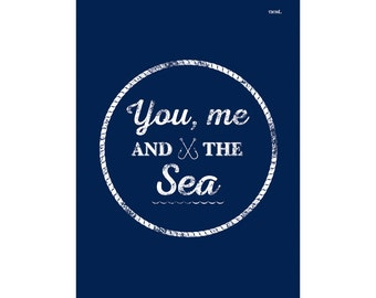 You, Me & The Sea Art Print | Kids Poster