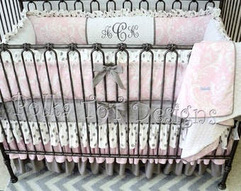 Bellissima Baby Bedding Pink & Gray