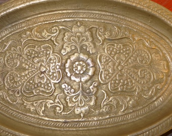 popular items for floral brass tray on etsy