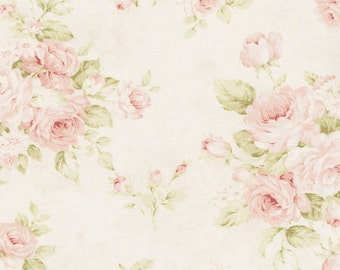 Pink Floral Fabric - By The Yard - Floral Girl Fabric