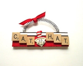 Cat in the Hat Dr. Seuss Scrabble Tile Ornament