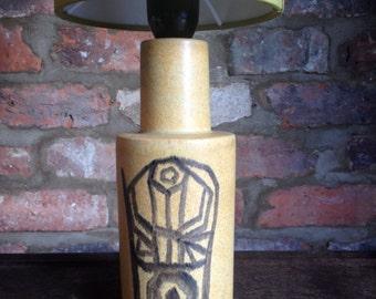 Mid Century Scandinavian Table lamp With Linen Shade