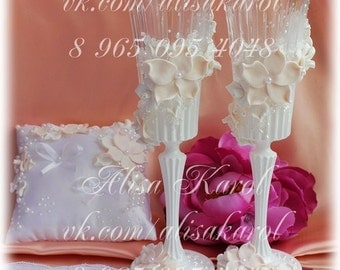 Wedding glasses and ring bearer (ANY COLOR)