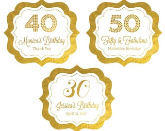 40th Birthday Stickers - 30 Birthday Labels - 40th Birthday Labels 30th Birthday Stickers 60th Birthday Stickers (EB3020FY) set of 24 labels