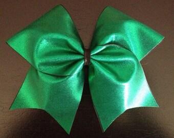 Green Cheer Bow