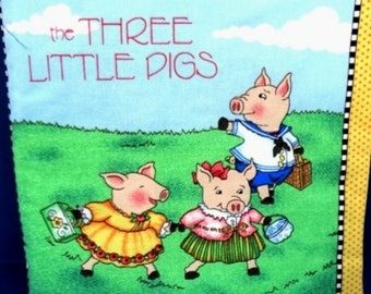 The Three Little Pigs children's cloth book