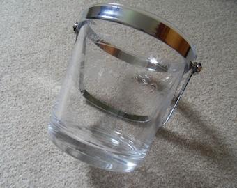 French Glass Ice Bucket