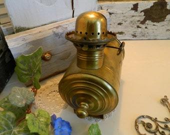 Vintage Angle Lamp Co. Large Brass Kerosene Lamp