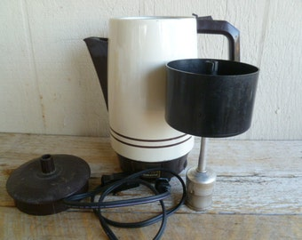 West Bend Electric Mid Century Modern Coffee Pot