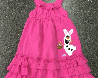 Custom Boutique Easter Bunny Olaf Dress ~~ LIMITED QUANTITY