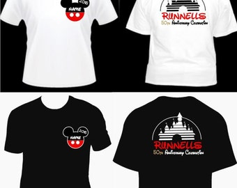 Disney Anniversary Shirts, Disney Shirts, Disney Family Shirts, Disney Cruise, Disney Trip, Disney Vacation