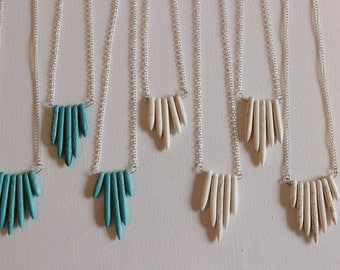 Howlite Point Necklace