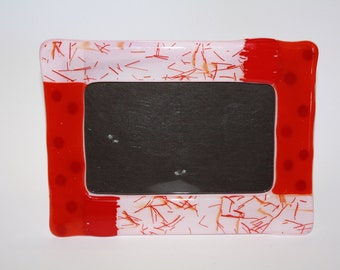 "Fused Glass Picture Frame for 3 1/2"" x 5"" Photos"