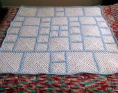 Crochet Blanket Pattern pdf: ASA Baby 8 - granny squares blanket, innovative design, right and left handed easy crochet, scraps bedspread,