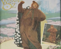 Uncut Simplicity 7833 ADULT Cowardly Lion from The Wizard of Oz Costume Sewing Pattern Sm.-Lg.