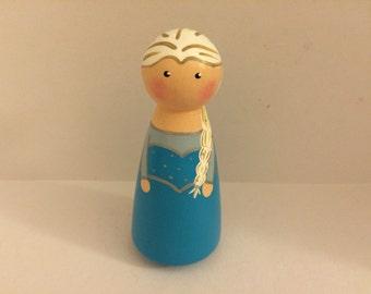 Elsa Peg Doll