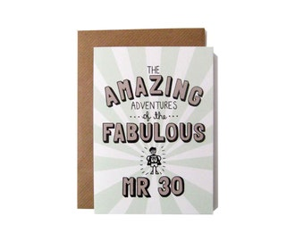 Amazing Adventures of the Fabulous Mr 30 Card