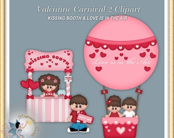 Valentine Carnival Clipart, Hot Air Balloon