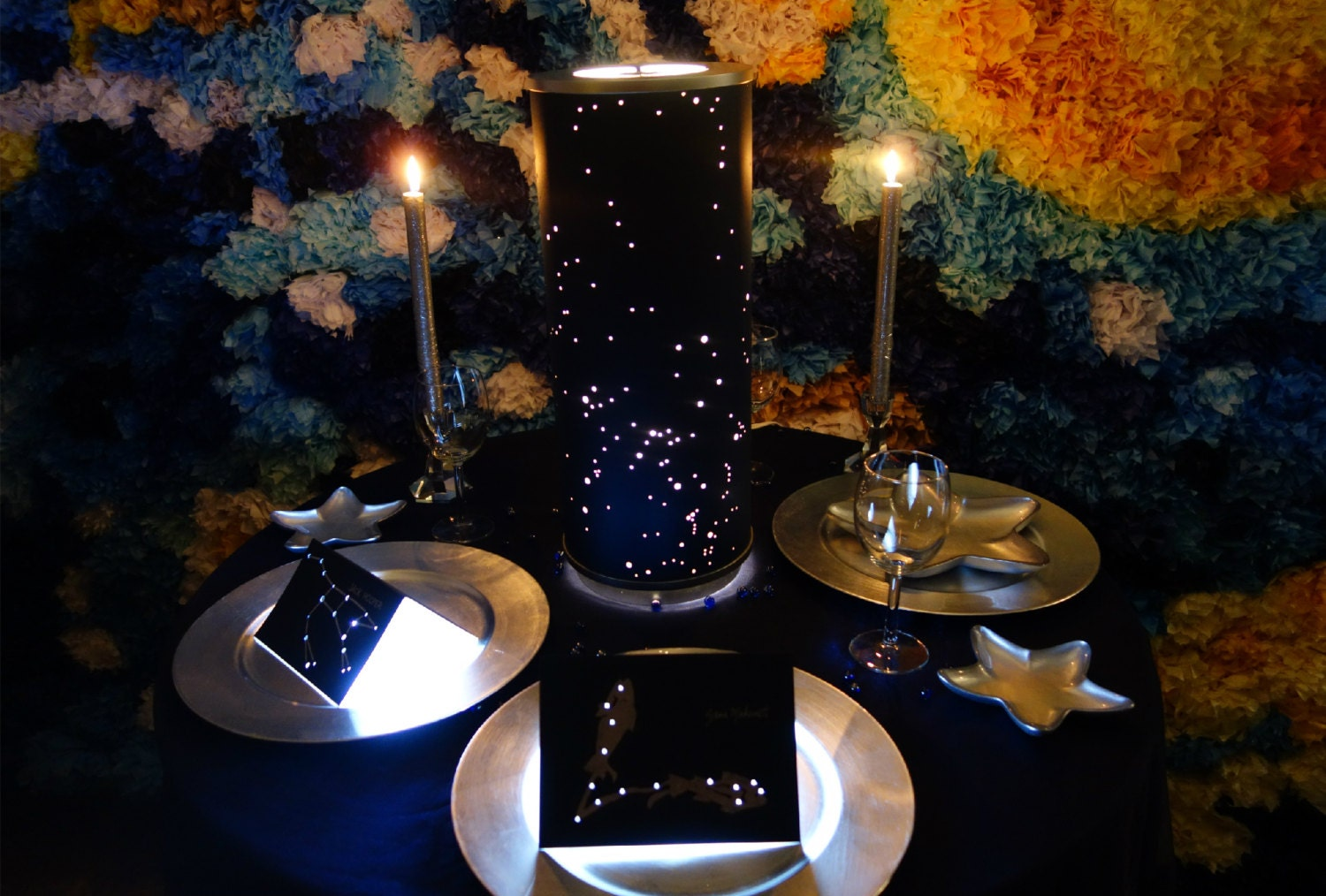 Shadow Star Constellations Shade Amp Table Lamp CENTERPIECE