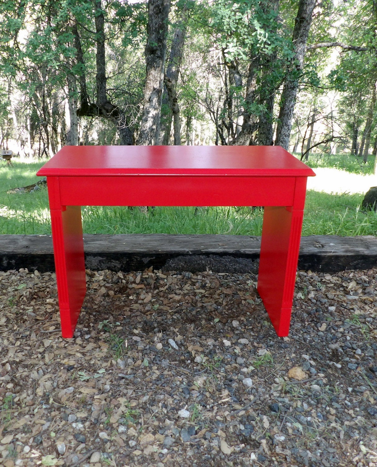 Entryway Bench Red Wood Vintage Piano Seating Storage Lift Lid