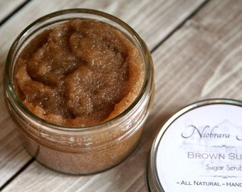 Natural Sugar Scrub – Natural Brown Sugar Scrub – Exfoliating Scrub – Bath Scrub – Shower Scrub – Moisturizing Scrub - Handcrafted Scrub