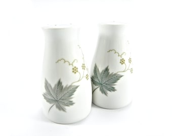Mid-Century Noritake Wild Ivy Porcelain Salt and Pepper Shakers