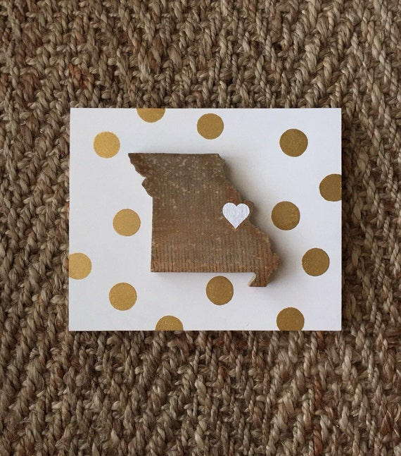 State Love Sign! Home Seeet Home State Sign - Wooden State Gold Dot Sign