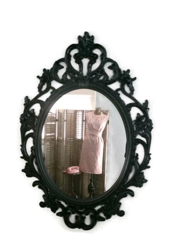 black shabby chic mirror