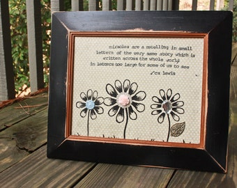 CS Lewis Quote Mixed Media Framed Art