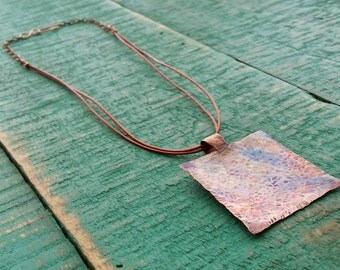 Copper Torch Fired Pendant