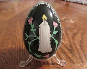 Candle and Vine Pysanka