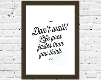 0112 Typographic Print A3 Wall Art Print Multiple Sizes
