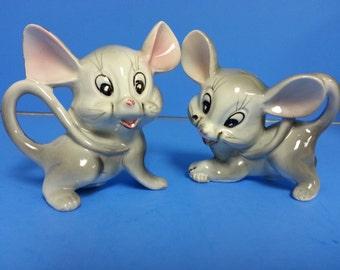 Mice salt and pepper shakers Mouse Artmark Vintage salt shaker Japan