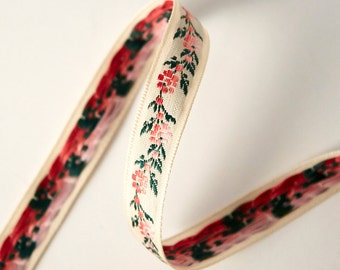 Polyester Sewing Ribbon - 13mm Ribbon Floral Pattern