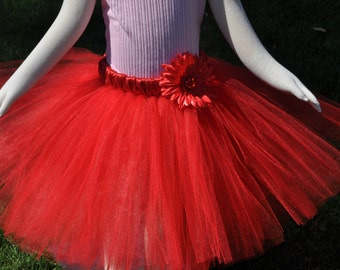 Girls Red Tutu Skirt, Infant Tutu Red Skirt, Toddler Tutu Skirt,  Girls Red Tutu Skirt, Baby Red Skirt