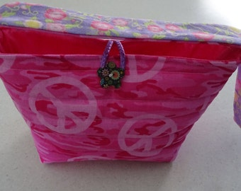 Pink for PEACE cotton tote - small