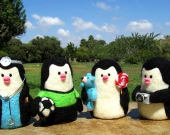 Order your own custom made Feltsy needle felted doll - felted miniature , WWF donation
