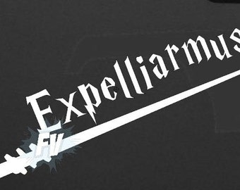 Expelliarmus w/ Wand Harry Potter Inspired Fandom Vinyl Decal/Sticker for Car, Laptop or any non Painted Surface