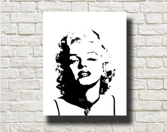 Marilyn Monroe Silhouettes Printable Instant Download Home Decor Wall Hanging DNGFM102
