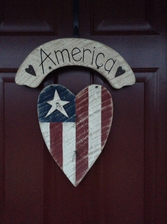 Primitive American Flag, American Flag, Summer Decor, 4th of July, Rustic Flag , Primitive Summer Decor, Americana,  Memorial Day