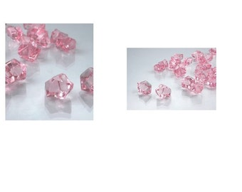 2 Pounds of Pink Acrylic Ice Rocks Vase Gems or Wedding Table Scatters, Pink Rocks For Wedding Or Parties, Decorate Tables For Pink Theme