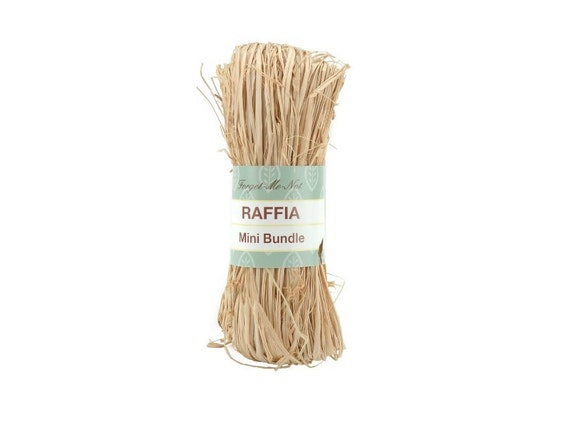Basket Making Natural Materials : Natural raffia mini bundle ounce for basket making
