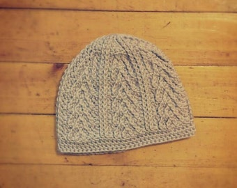 Handmade lavender colored  chevron/arrow patterned crochet hat (sized for child) - TO BE NAMED