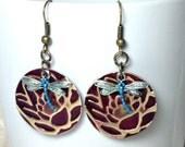 Dragonfly Lotus Earrings