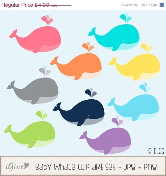 clipart baby shower whale - photo #23